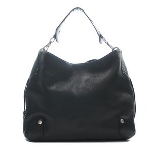 COLE HAAN BLACK LEATHER SHOULDER BAG